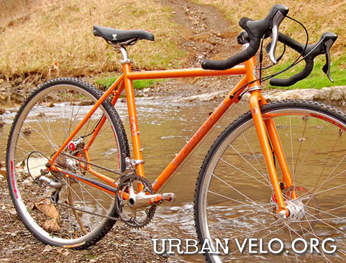 painted bright orange salsas disc only steel cyclocross frame is built for abuse true tempers ox platinum is a relatively