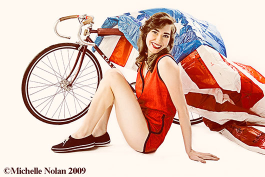 Bike Chicks Go PinUp for Chicago Women's Health Center