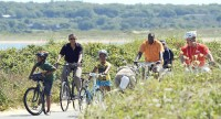 Obama bicycle ride
