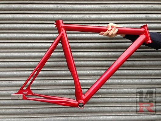 14 bike co recently released the 14r track frame perhaps at first glance a lookalike to some aero aluminum frames but this one is made from reynolds 853