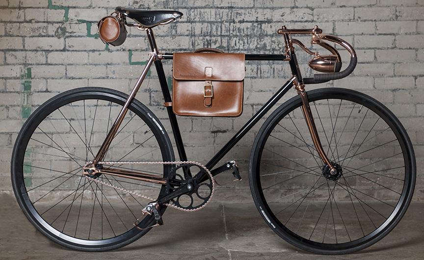 Detroit Cargo Griswold Leather Frame Bag Urban Velo