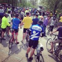 300+ riders massing.