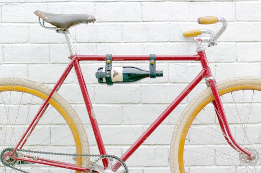 vegan bicycle wine rack red bike wide