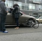 Driver Hits Cyclist, Sues for Damages